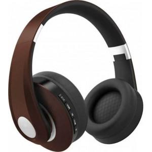 Ακουστικα- Bluetooth ασύρματα ακουστικά, σε καφέ χρώμα – 500mah με ρυθμιζόμενο διπλό headband για άνετη εφαρμογή γύρω από το κεφάλι GADGETS