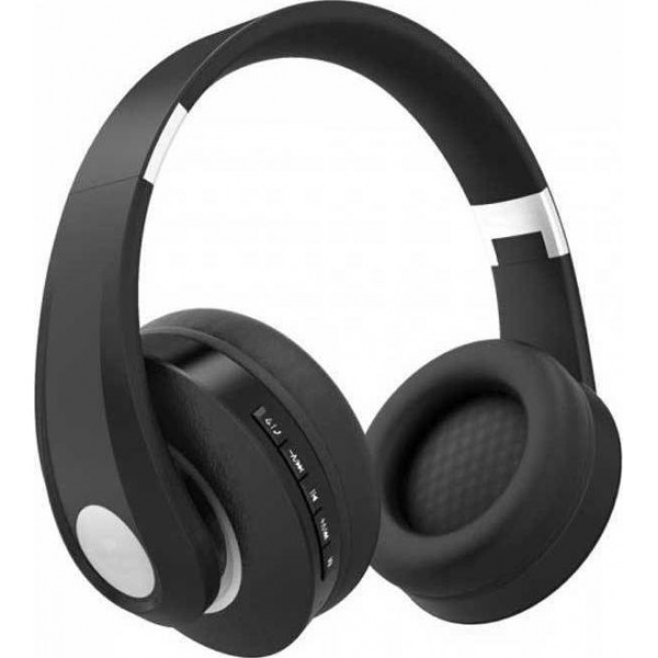Bluetooth ασύρματα ακουστικά, σε μαύρο χρώμα – 500mah με ρυθμιζόμενο διπλό headband για άνετη εφαρμογή γύρω από το κεφάλι GADGETS