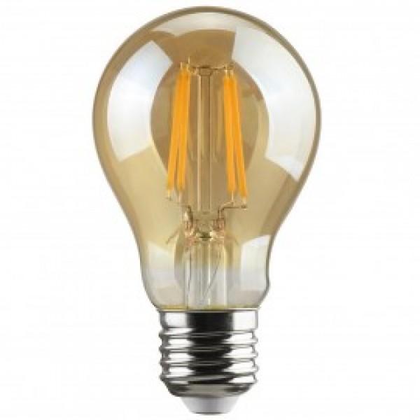 Λαμπτηρες - Led - GOLDEN SMOKED FILAMENT A60-6W-E27-3000K VINTAGE LED - DECORATIVE
