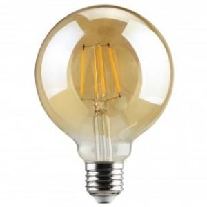 Λαμπτηρες - Led - GOLDEN SMOKED FILAMENT G95-6W-E27-3000K VINTAGE LED - DECORATIVE