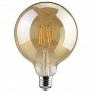 Λαμπτηρες - Led - GOLDEN SMOKED FILAMENT G125-6W-E27-3000K VINTAGE LED - DECORATIVE