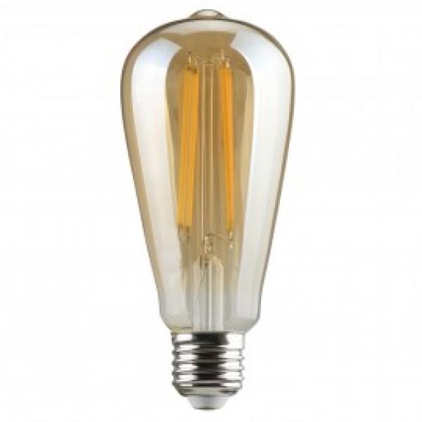 Λαμπτηρες - Led - GOLDEN SMOKED FILAMENT ST64-6W-E27-3000K VINTAGE LED - DECORATIVE