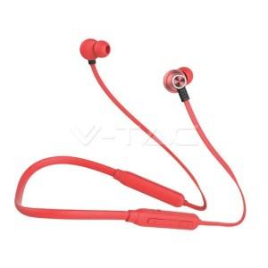 Ακουστικό Bluetooth για κινητά τηλέφωνα με καλώδιο κόκκινο GADGETS