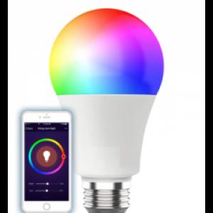 WiFi Έξυπνη λάμπα LED E27 A60 11W RGB + Ψυχρό λευκό + Θερμό λευκό, Συμβατή με Amazon Alexa και Google Home ΈΞΥΠΝΟ ΣΠΙΤΙ